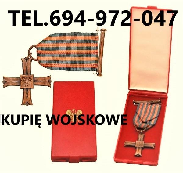 Kupie Odznaczenia,odznaki,medale,ordery Stare Wojskowe Telefon 694-972-047